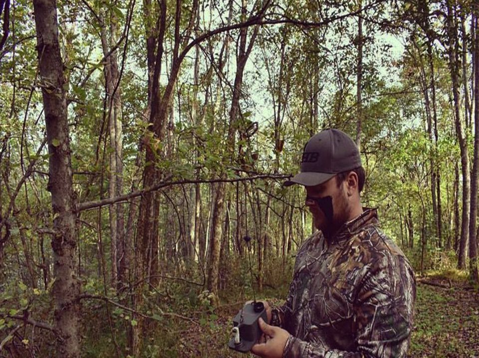 Getting ready to hunt with ScentBlaster.