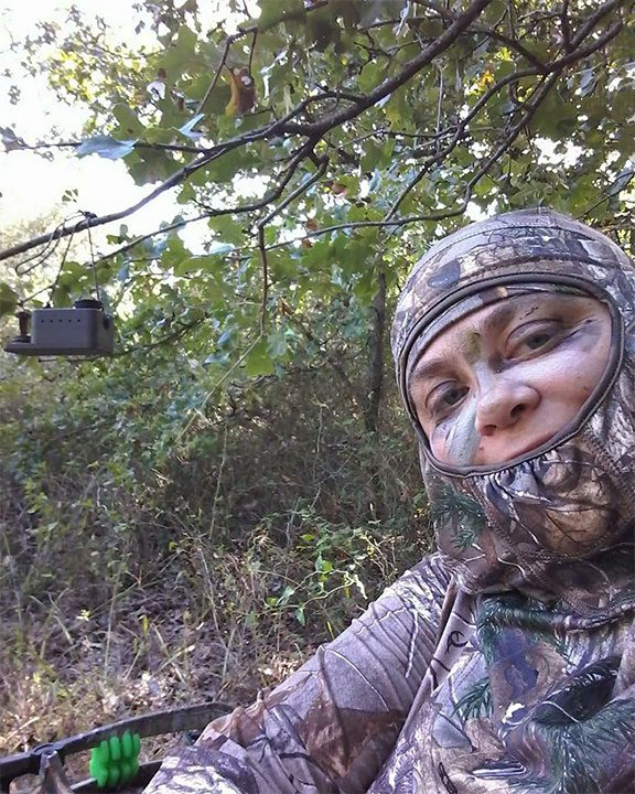 Stacey Smith ready Ready and set-up with ScentBlaster for the archery season.