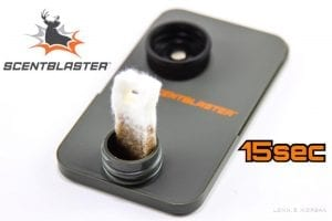 Super absorbent ScentBlaster Wick in ScentContainer after 15 seconds
