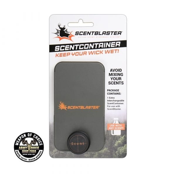 Extra ScentContainer for ScentBlaster wicking system, Weapon of Choice logo, Army Buck Hunters