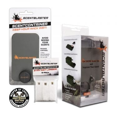 ScentBlaster hunting scent dispenser pro kit with Armby Buck Hunters Weapon of Choice logo